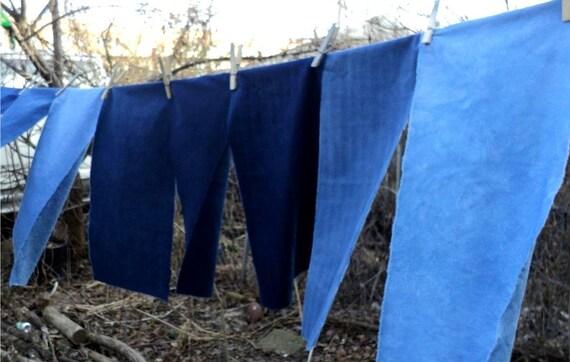 Indigo on Patterned Cotton