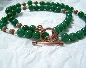 Physics Jewelry - Green Electron Radius - Biology Jewelry - Science Teacher Graduate Gift