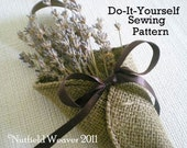 Little Burlap Petal Cone PDF Pattern ePattern for your DIY rustic wedding.