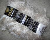 Lion Brand Ivory Fun Fur, Eyelash Novelty, 3 skeins