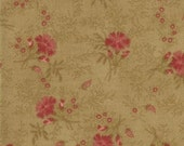 "SALE Tan Small Floral Collections for a Cause Legacy fabric 50"" Last Piece"