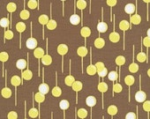 Music in Brown Gypsy Fabric by Felicity Miller 1 yard