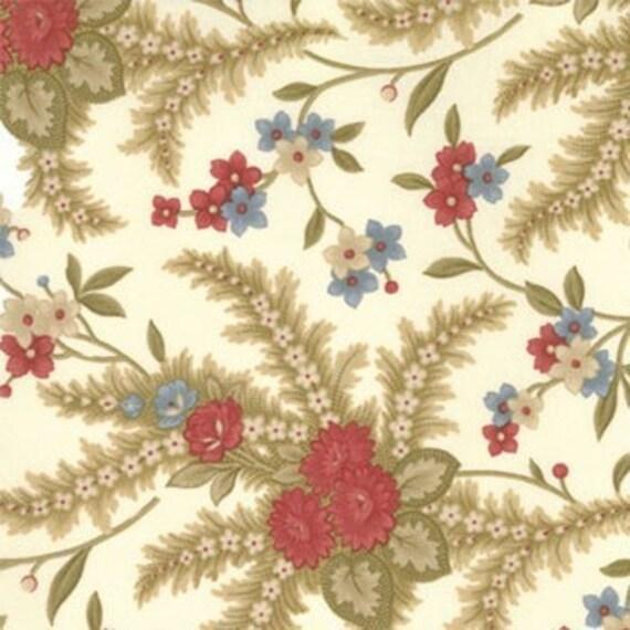16 inches SALE Ivory Wildflowers Flag Day Farm Moda Fabric Last Piece