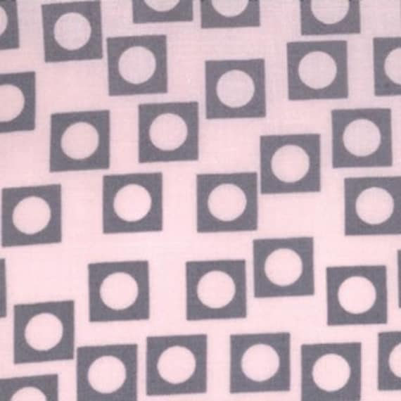 Play Dot Pink Grey 18506-18 Sherbet Pips by Aneela Hoey for Moda Fabric Half yard