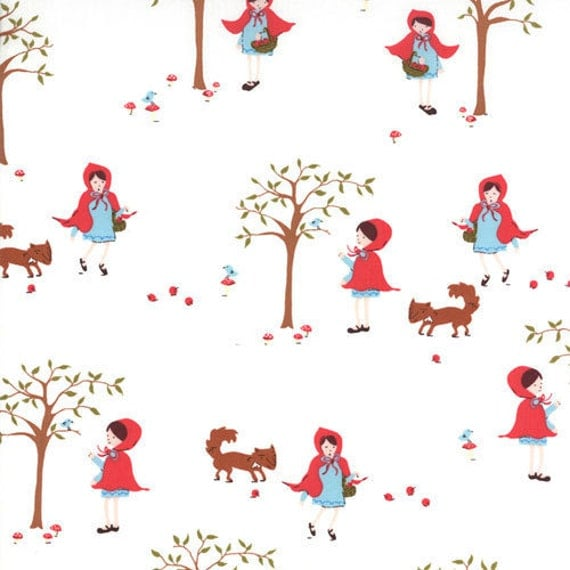 Little Red in Icing 18520-19 A Walk in the Woods by Aneela Hoey for Moda Fabric 1 yard Last Piece