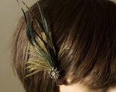 Lissa Vintage Feather Hair Piece Clip