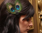Custom Listing for JENROSE11 -Andy the Simple Peacock Feather Hair Clip - Fascinator