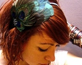 Prissy the Peacock Feather Hair Piece