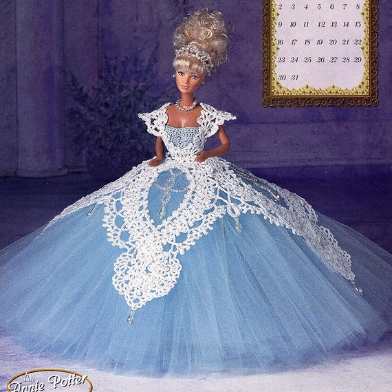 Annies Crochet Patterns : Annies Attic Royal Ballgowns Crochet Pattern, Miss March 1997, for ...