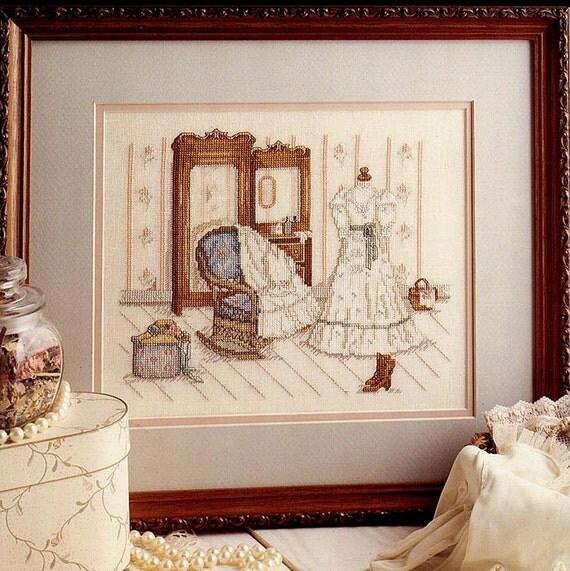 Let's Pretend, Vintage Paula Vaughan Cross Stitch Chart, Book 32, Victorian Era