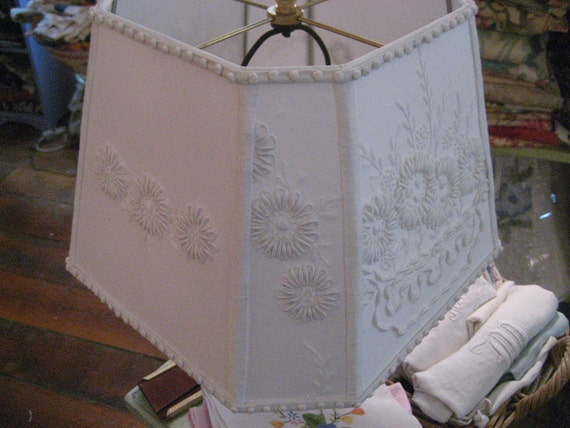 Cut Corner Square Lampshade with Lovely Handwork