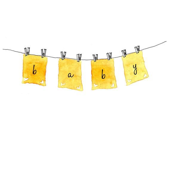 Clothesline - baby card
