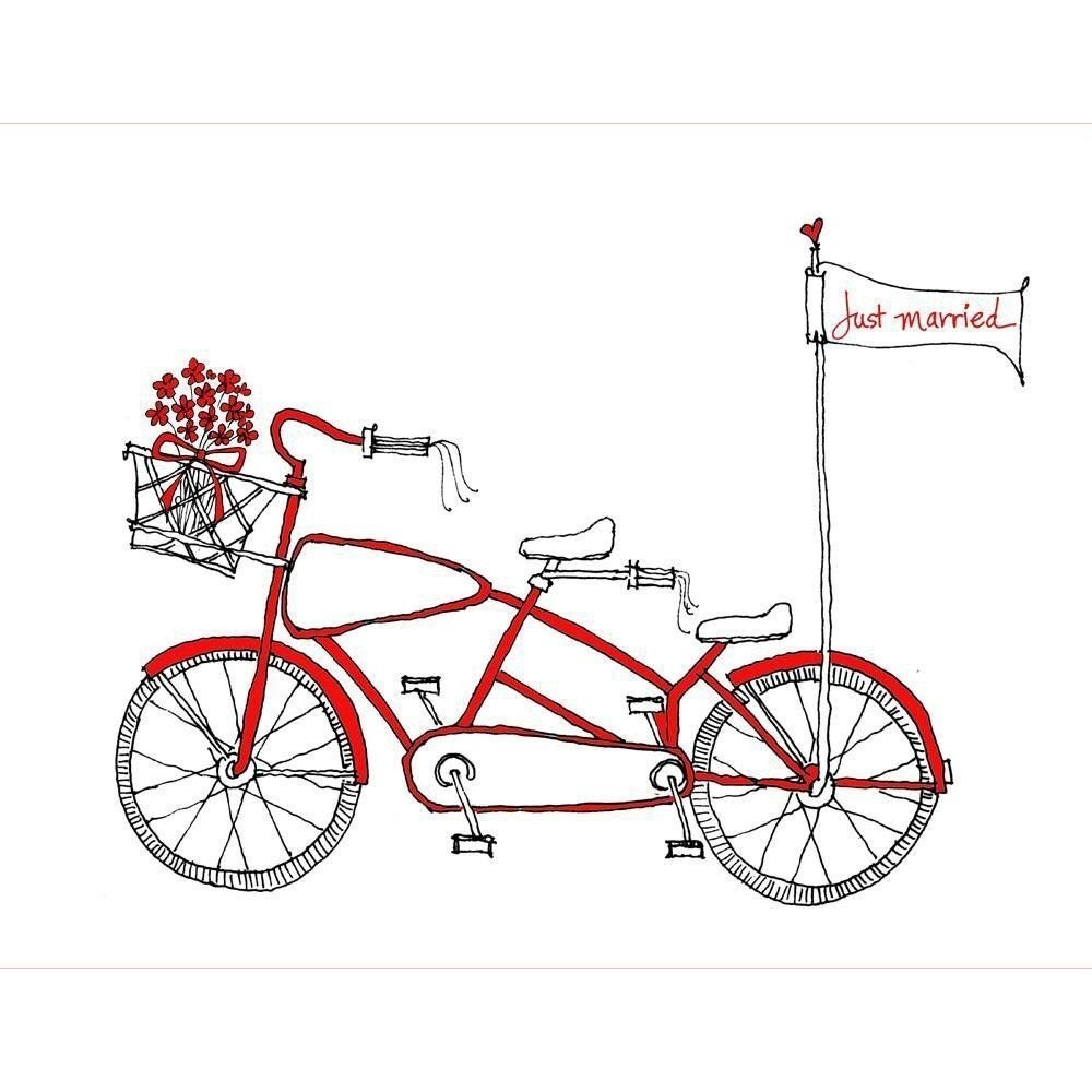 Tandem Bike Wedding Card