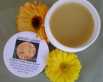 Organic Calendula Salve. Calendula Infused Balm, Herbal Balm, Organically Grown Calendula - All Natural Herbal Salve