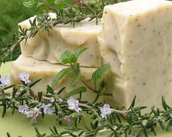 Rosemary Mint Soap, Natural Handmade Soap, Herbal Organic Soap, Essential Oil Soap