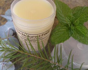 Natural Foot Balm, Nurtured Feet, Herbal Foot Balm, 2 ounce tube