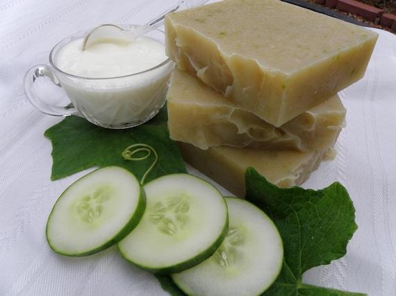 Fresh Cucumber and Organic Yogurt Natural Herbal Soap