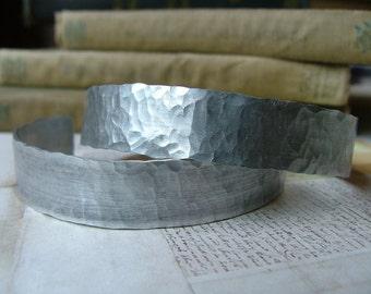 Hammered Aluminum Adjustable Cuff Bracelet by MyBella