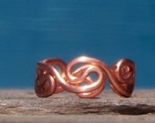 Copper Grecian Toe Ring