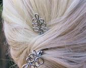 Fantasy Silver Leaf Hair Jewelry