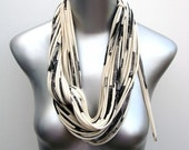 Gifts For Her, Infinity Scarf, White Scarf, Cream Scarf, For Her, Necklace, Womens, Circle Scarves, Statement Necklaces, Gift, Gift For HIm