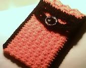Handmade Tarot Card Case Orange Black