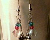 Handmade Hearts and Beads Dangle Earrings