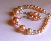 Pearl Bracelet  Earring Set PIF