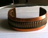 RESERVED for Nancy: Vintage Copper Cuff  Wide Bracelet