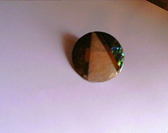 PIF Mother of Pearl Design Pendant Upcycled