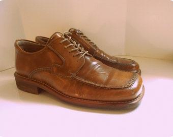 Cliffton International Mens Mod Brit 70s Lace Oxford Shoes Sz 8 8.5