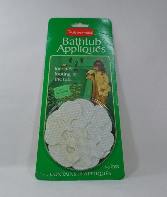 Vintage 1970s Rubbermaid Bathtub Appliques New/Old In Package