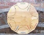 Aggravation type marble game dual sided 4 and 6 player board game
