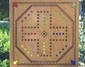 Aggravation game board w marbles and Dice