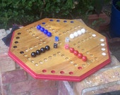 Aggravation style game board w large 3/4 inch marbles