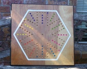 Reserved listing for Molly aggravation board game w marbles and dice