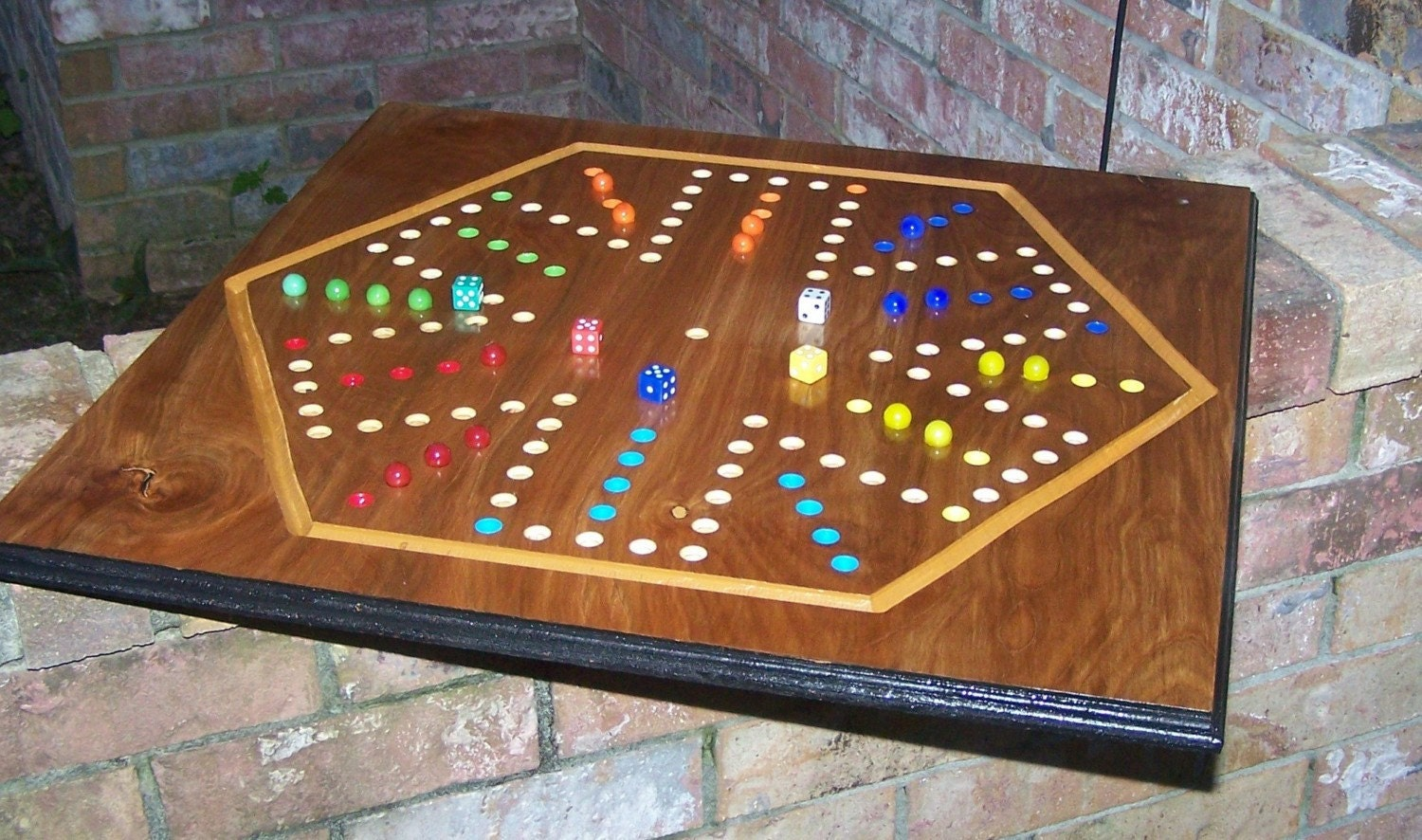 Wood Board Games ~ Aggravation board game made in usa sign d by wooddesigner