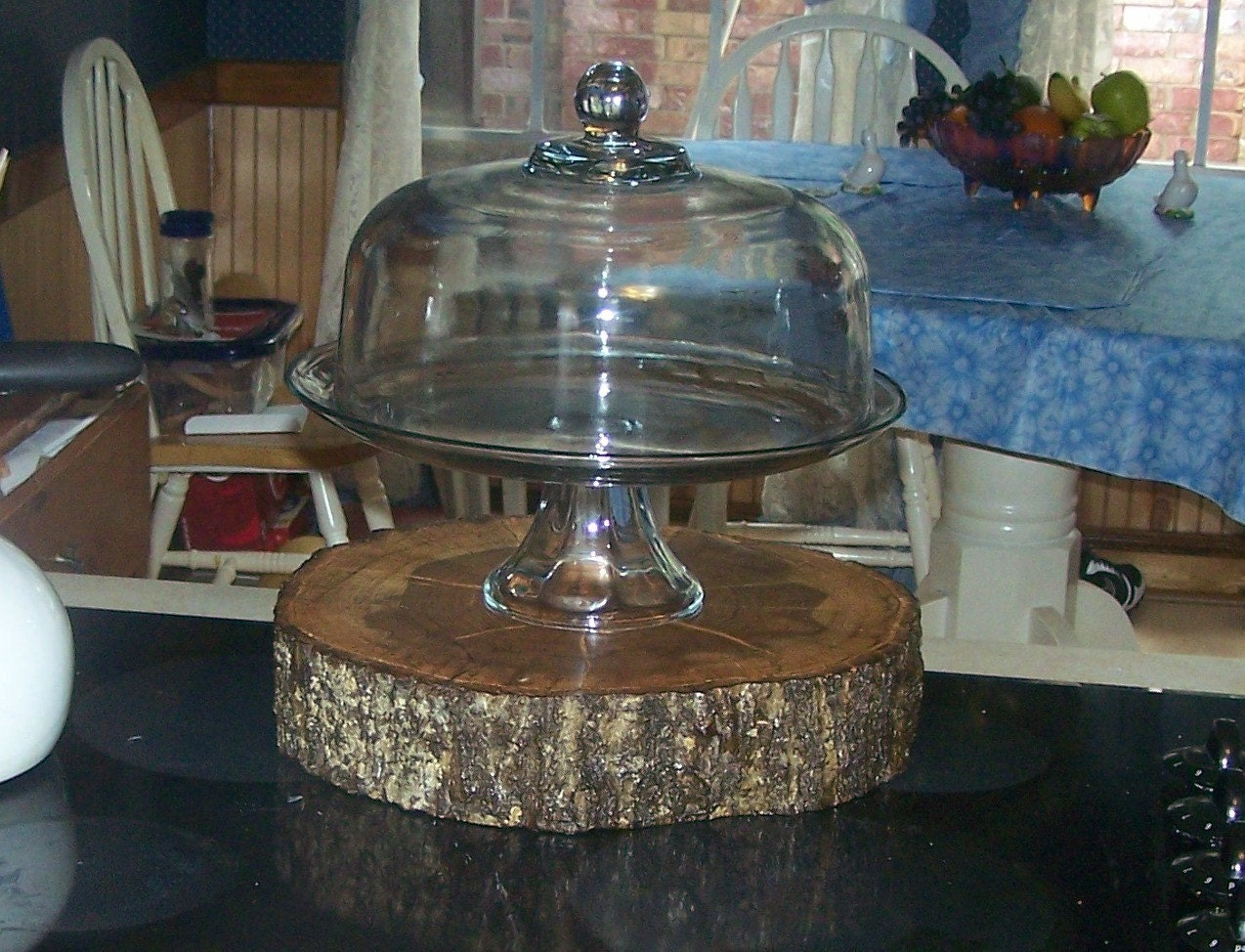 Live water oak wood weeding cake stand centerpiece