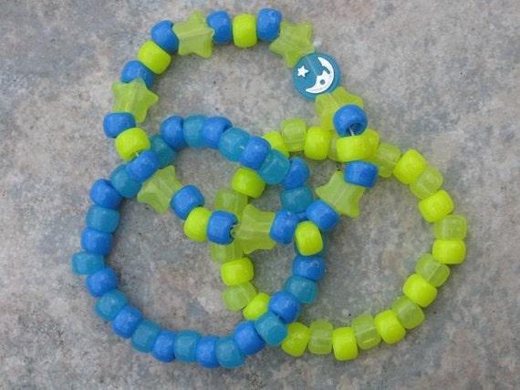 Blue and Yellow bracelets 3pk.