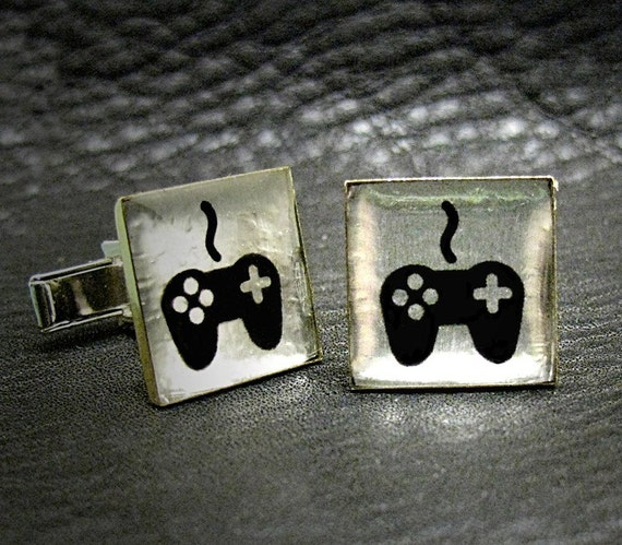 Computer Video Gamer Xbox or WII Cuff links for Men - A - Ready to Ship