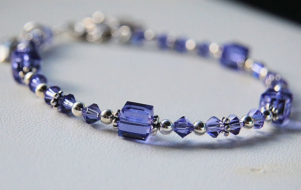 lupus awareness bracelet purple with butterfly charm