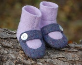 Lambswool Slippers from Upcycled Sweaters, Baby size 0-12 months, Skip to my Lou