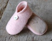Wool Baby Shoes, size 6-18 months, Honeysuckle, SALE, RESERVED for melissa quinn