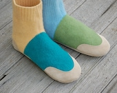Womens Wool Slippers, Leather Soled & Eco friendly, Size 6.5, Lilipads