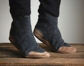 Wool Slipper Socks for Men & Women, Eco Friendly, women size 8, Lamb to School - WoolyBaby