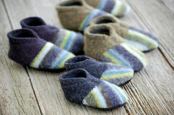 Baby Shoes, Leather Soles, Eco Friendly, size 0-12 months, Rock Paper Scissors