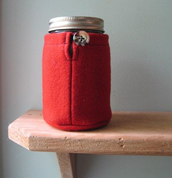 Red Wool Mug Hug
