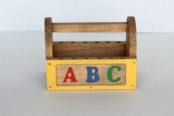 ABC Wooden Art Caddy