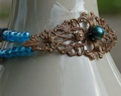 Brass and Blue Bracelet