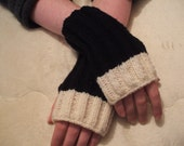 Handmade in Ireland 'My Goodness My Guinness' Fingerless Mittens Wristwarmers Happy Arthur Guinness Day